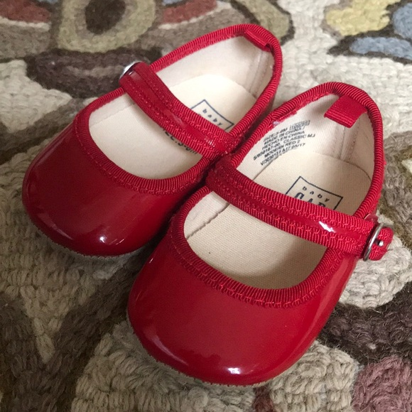 ccee8c832 GAP Other - Baby Gap red Mary Janes 3-6 month shoes